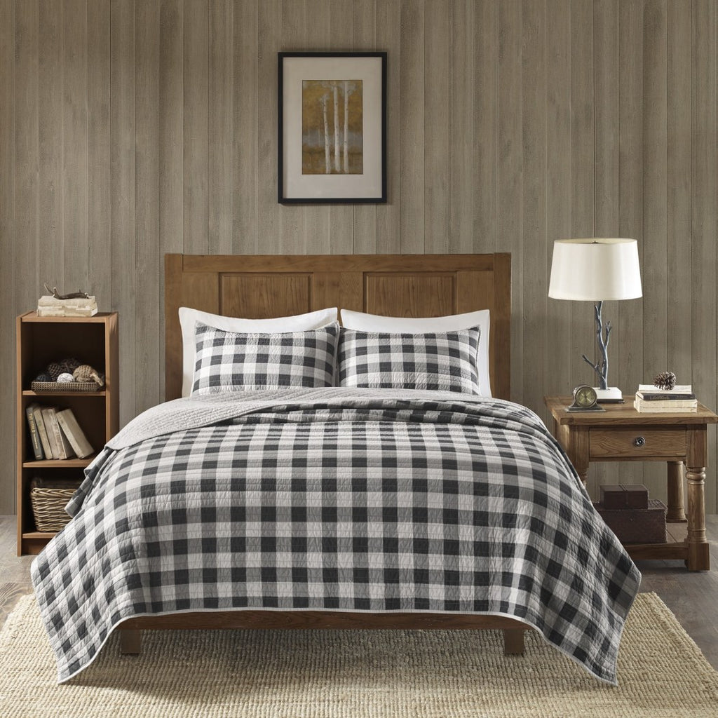 Plaid/Cal Quilt Set Oversize Check Lodge Cabin Theme Bedding Checkered Checked Madras Tartan Ljack Pattern