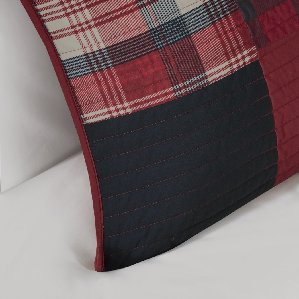 Southwest Cabin Plaid Quilt Set Classic Madras Plaid Bedding Lodge Hunting Themed Tartan Patchwork Design Ljack