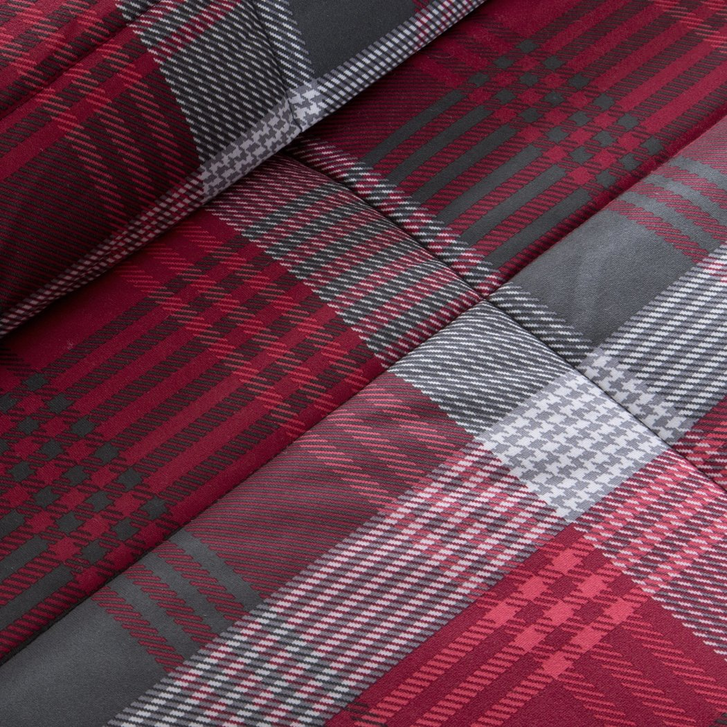 Madras Plaid Comforter Set Glen Checkered Bedding Tartan Check Lodge Cabin Themed Country Woven Pattern Light