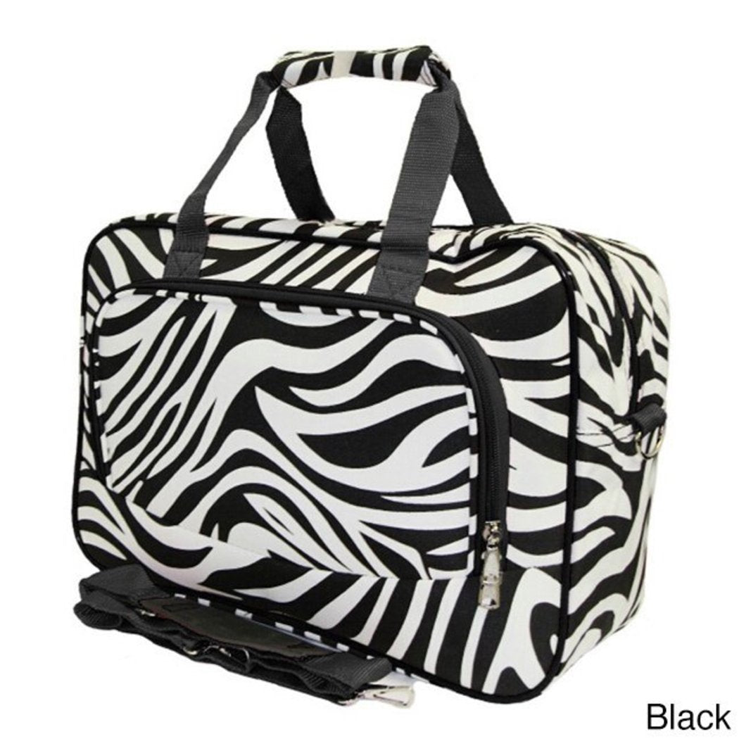 Lightweight Softsided Duffle Bag Zebra Pattern Polyester
