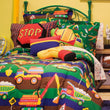 Kids Construction Comforter Set Fun Bulldozer Dump Trucks Excavator Road Building Tools Road Signs Pattern Sheet Set Bed In A Bag