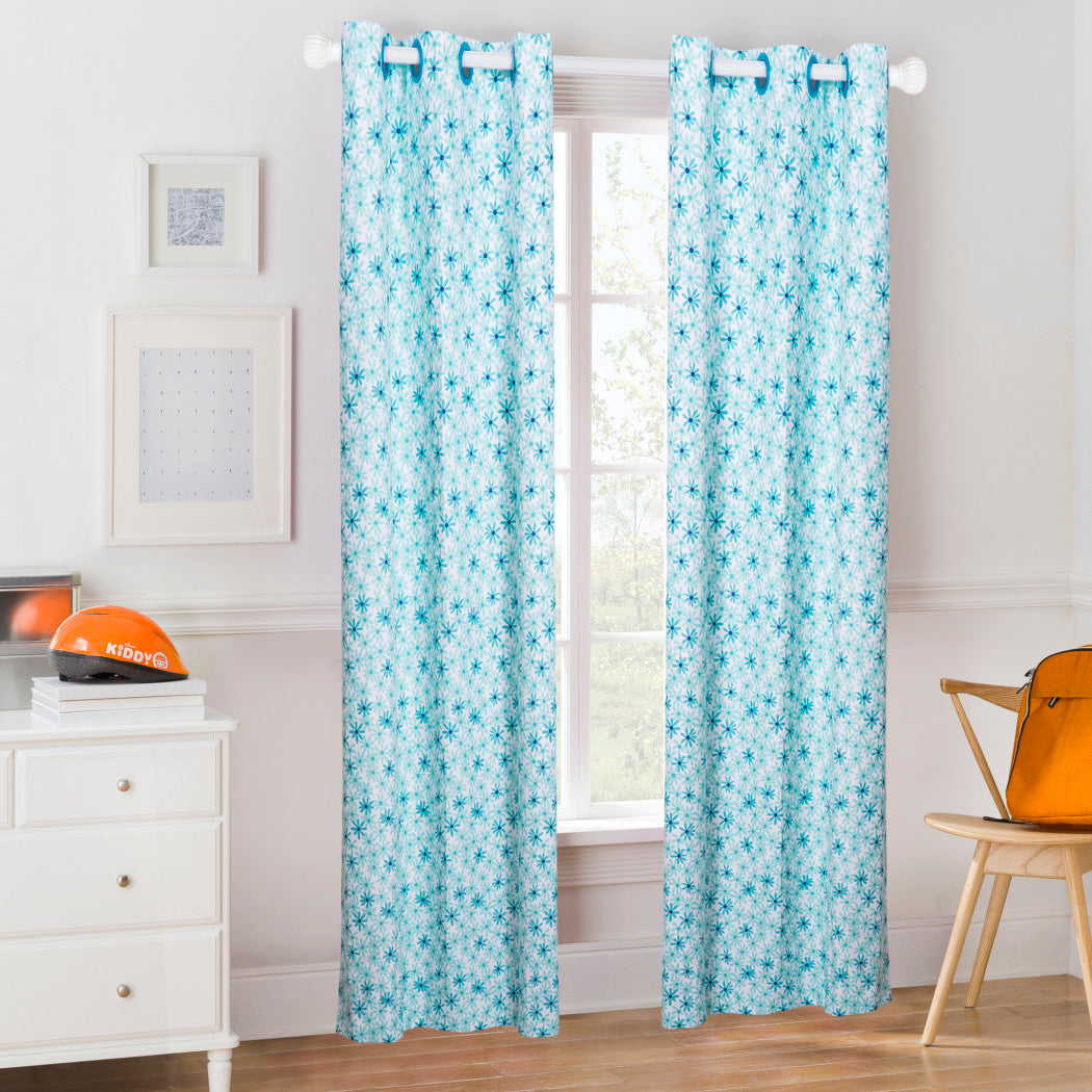 Daisy Window Curtain Pretty Butterfly Drape Floral Room ening Thermal Insulated Blocking Window Curtain Panels