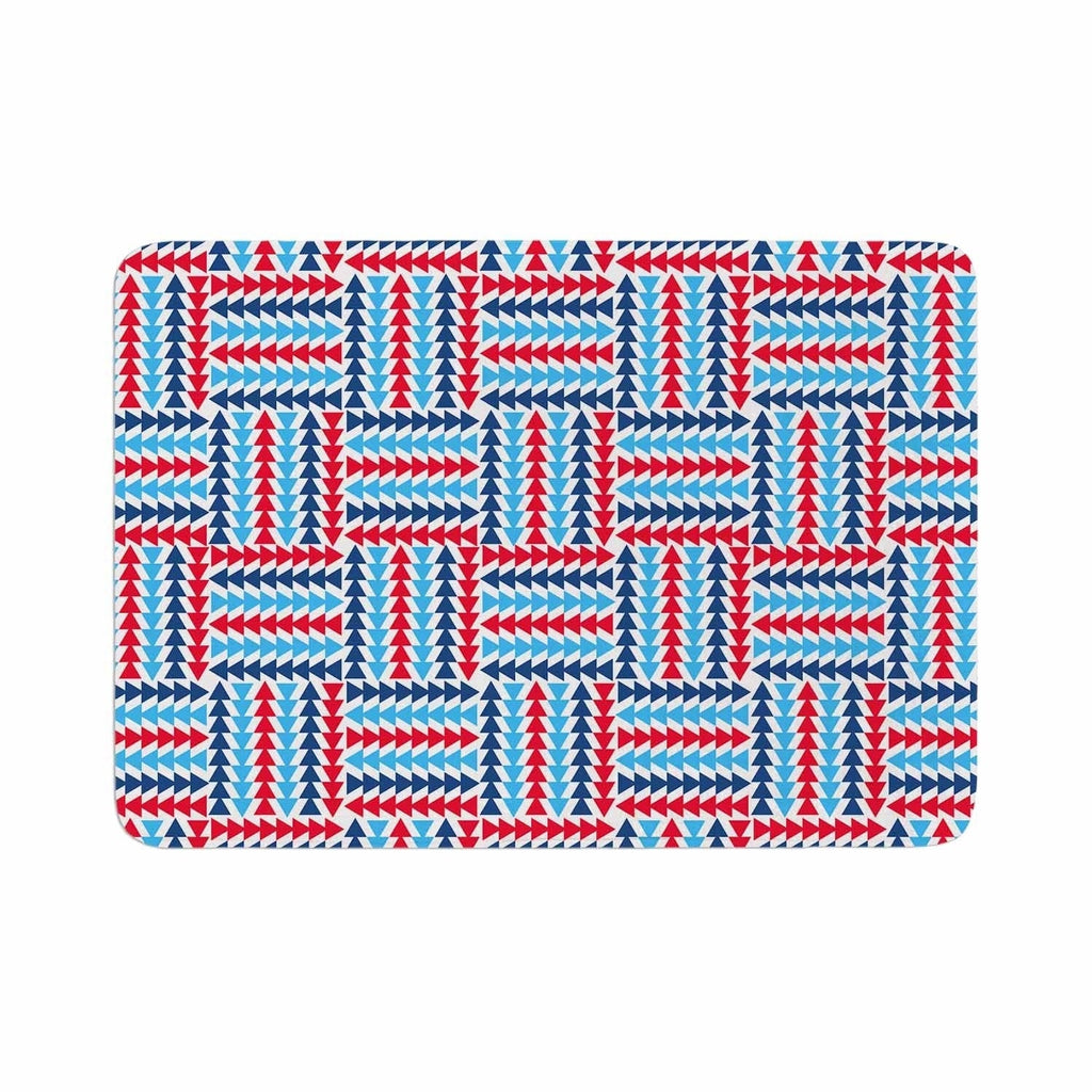 "Afe Images ""Afe Abstract Basket Weave"" Memory Foam Bath Mat Blue Single Piece - Diamond Home USA"
