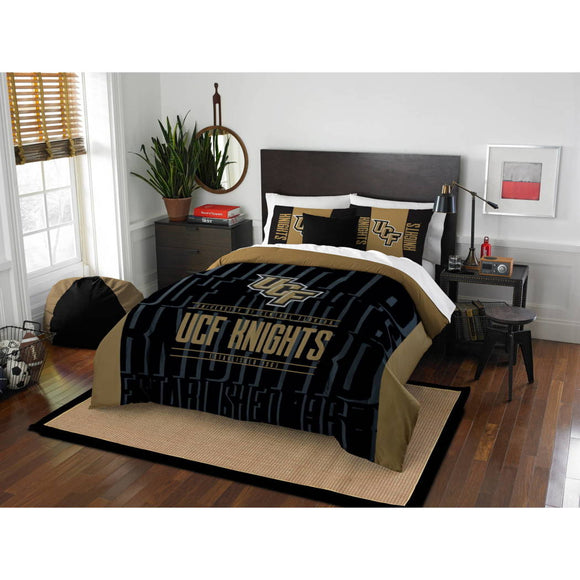 NCAA Knights Comforter Set Sports Patterned College Football Themed Bedding Team Logo Fan Merchandise Athletic Team Spirit Fan