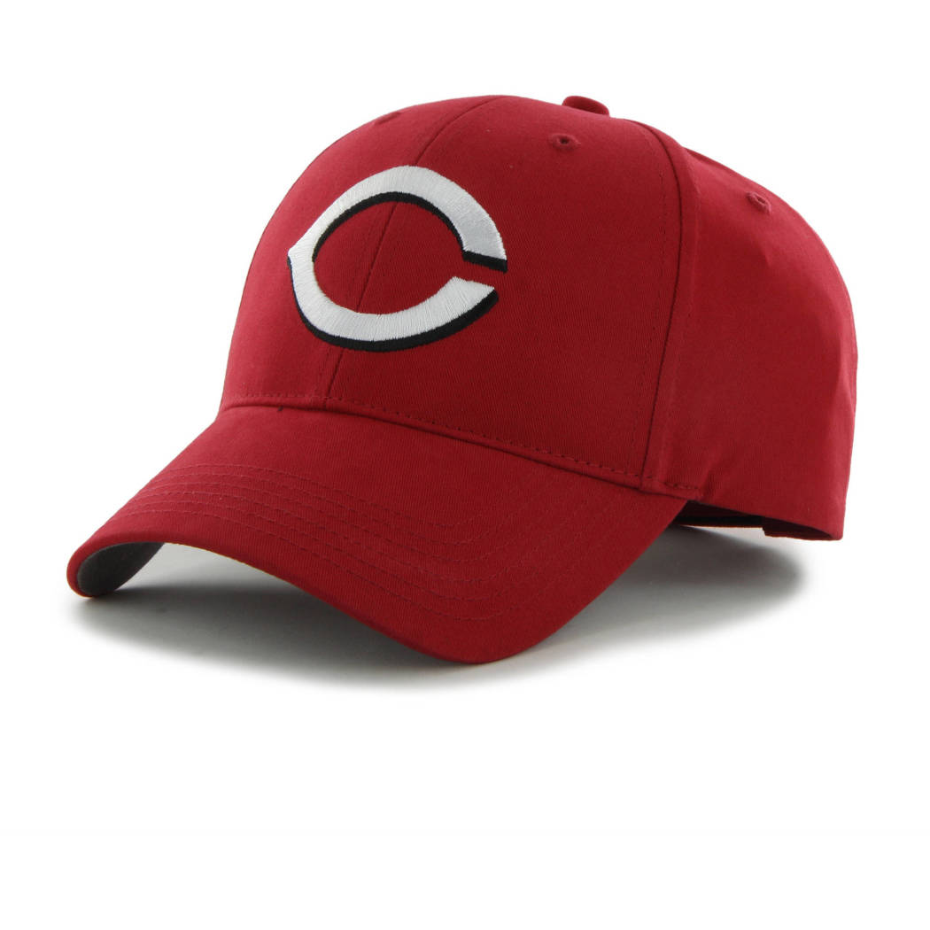 Reds Basic Cap Boys Baseball Themed Rectangular Hat Sports Pattern Team Logo Fan Merchandise Athletic Team Spirit Fan Stylish Comfortable Red Cotton - Diamond Home USA