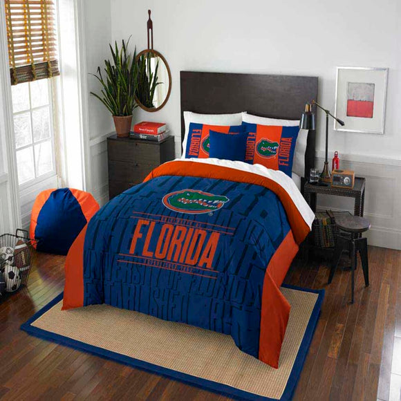 NCAA University Florida Gators Comforter Set Sports Patterned Bedding Team Logo Fan Merchandise Team Spirit College Basket Ball Themed