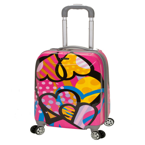 ac57df8a69 Girls Abstract Art Theme Carry Luggage Hardtop Hardside Roller Wheel Set  Girls Heart Polka Dots Floral Themed Suitcase Rolling Upright Spinner