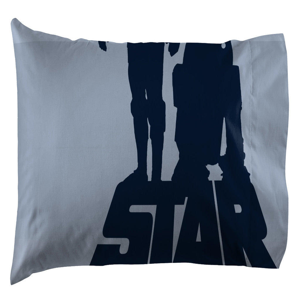 Kids Blue Star Wars Comforter Twin Set Grey Starwars Bedding Spacecraft Clone Troopers Darth Vader R2 D2 Lightsabers Galaxy Move Themed - Diamond Home USA