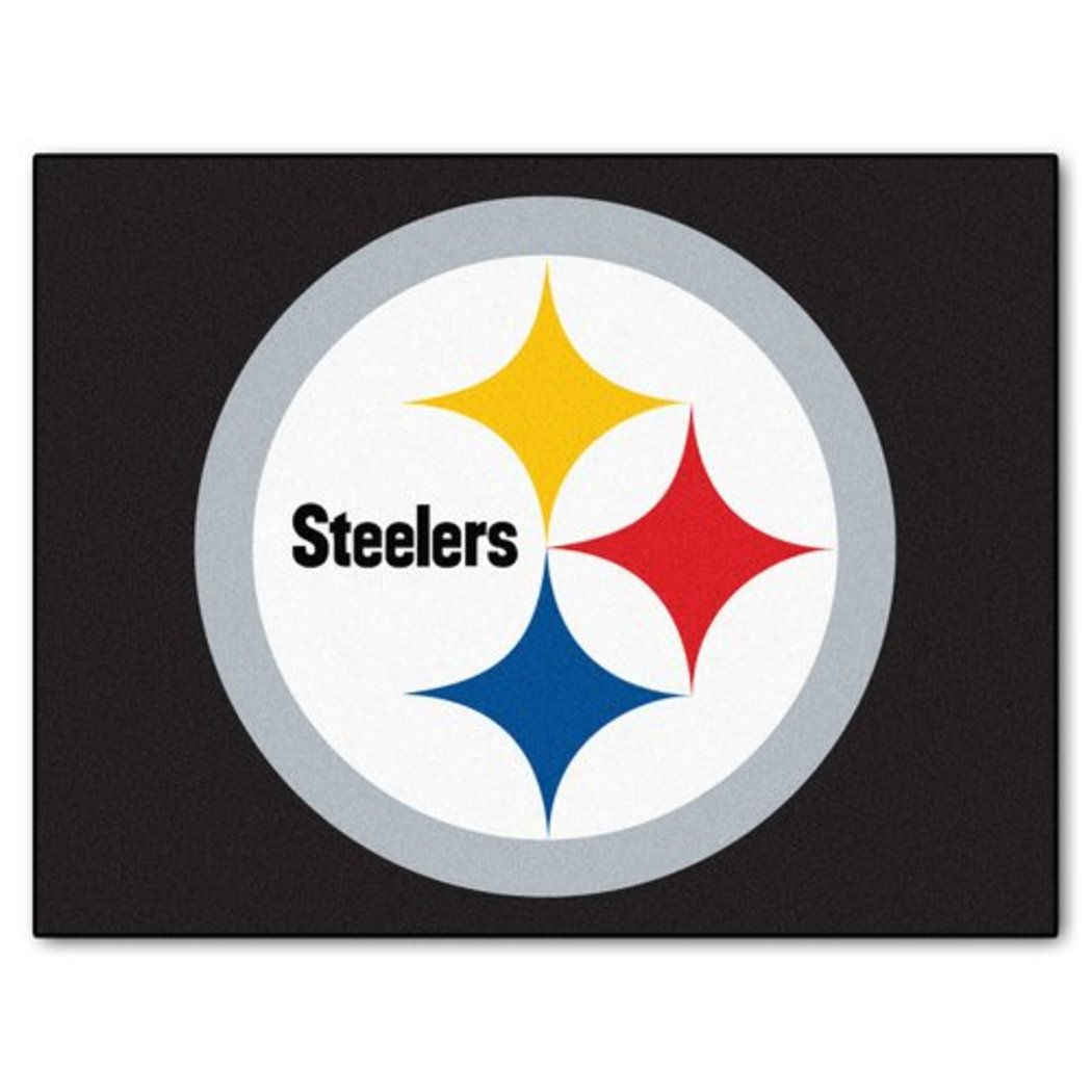 "19"" X 30"" Inch NFL Steelers Door Mat Printed Logo Football Themed Sports Patterned Bathroom Kitchen Outdoor Carpet Area Rug Gift Fan Merchandise - Diamond Home USA"