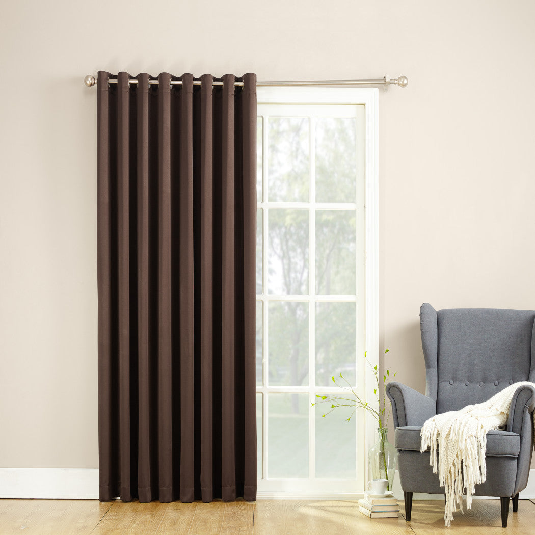 Extra Wide Sliding Door Curtain Sliding Patio Door Panel Window Treatment Single Panel Modern Contemporary Curtains