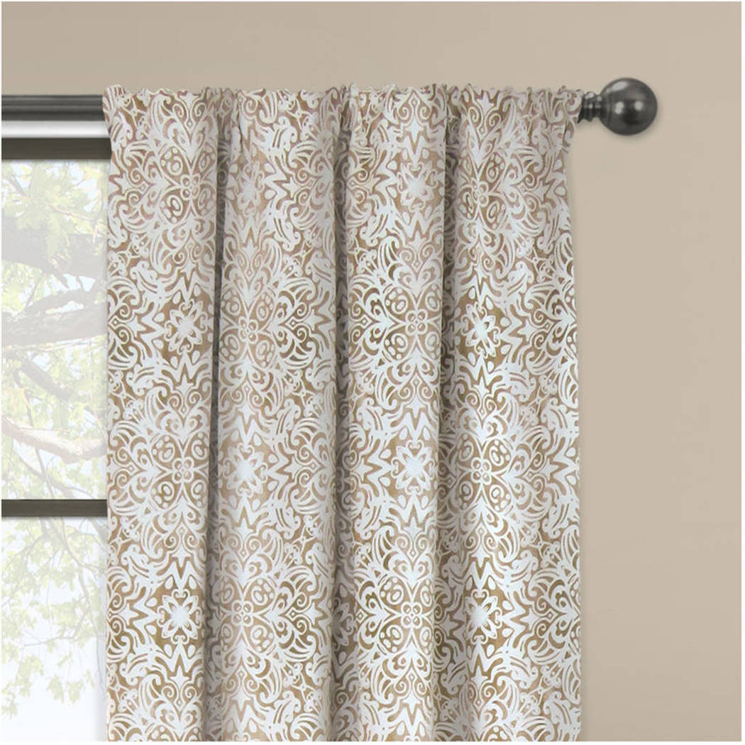 Ombre Window Curtain Tribal Drape Mosaic Scroll Noise Reducing Energy Efficie Window Drapery Blocking