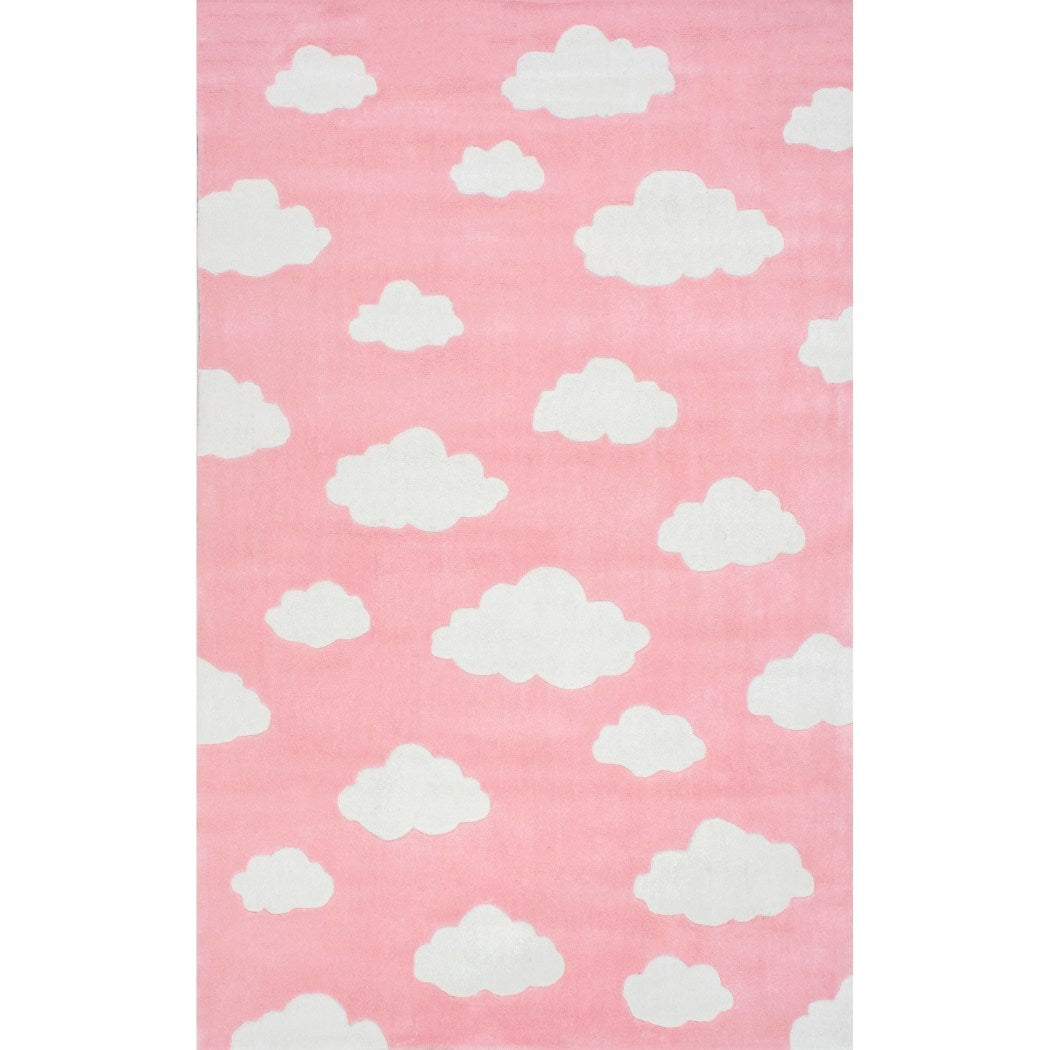 5' X 8' Cloud Block Pattern Area Rug Indoor Toddler Abstract Geometric Hand Tufted Bedroom Playroom Rectangle Carpet Large