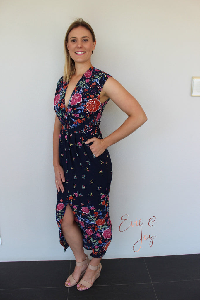 Audrey Dress - Navy Floral