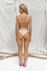 Iris White Lace Thong - Dantelle Collective