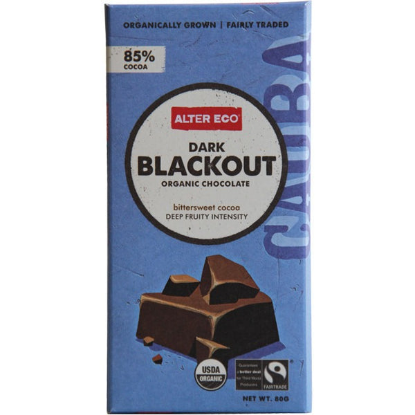 Alter Eco Dark Blackout Chocolate 80g - Essentially Health Online Vegan Health Store Afterpay