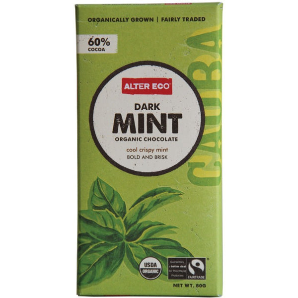 Alter Eco Dark Mint Chocolate 80g - Essentially Health Online Vegan Health Store Afterpay