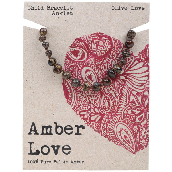 Amber Love Olive Child Bracelet 14cm - Essentially Health Online Vegan Health Store Afterpay