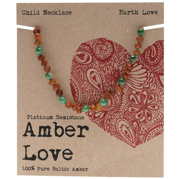 Amber Love Amber Earth Love Children's Necklace 33cm - Essentially Health Online Vegan Health Store
