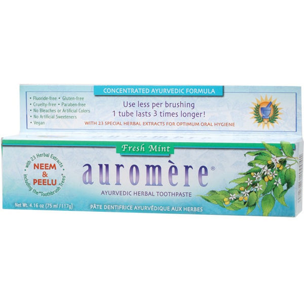Ayurvedic Toothpaste - Fresh Mint 117g - Essentially Health Online Vegan Health Store