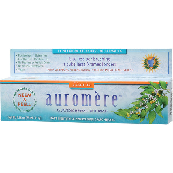Ayurvedic Toothpaste - Licorice 117g - Essentially Health Online Vegan Health Store