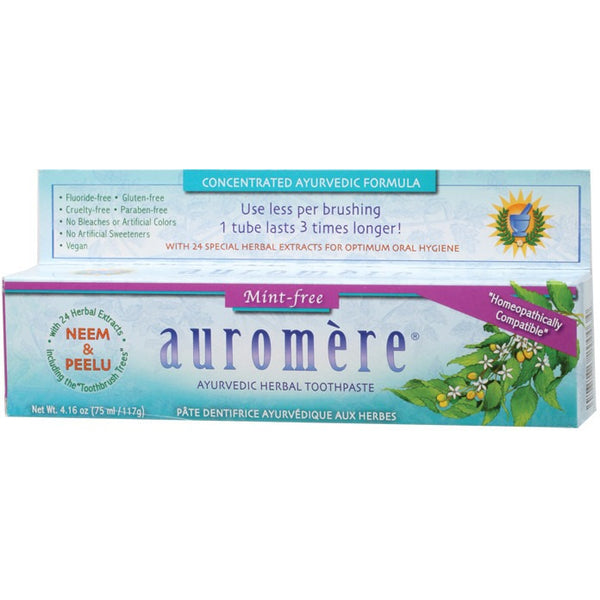 Ayurvedic Toothpaste - Mint Free 117g - Essentially Health Online Vegan Health Store