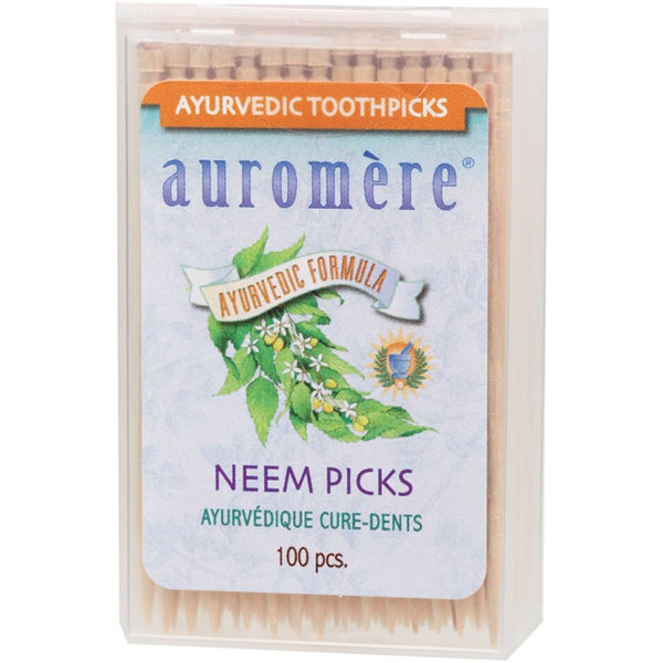 Auromere Toothpicks Neem Picks (Peppermint) - Essentially Health Online Vegan Health Store