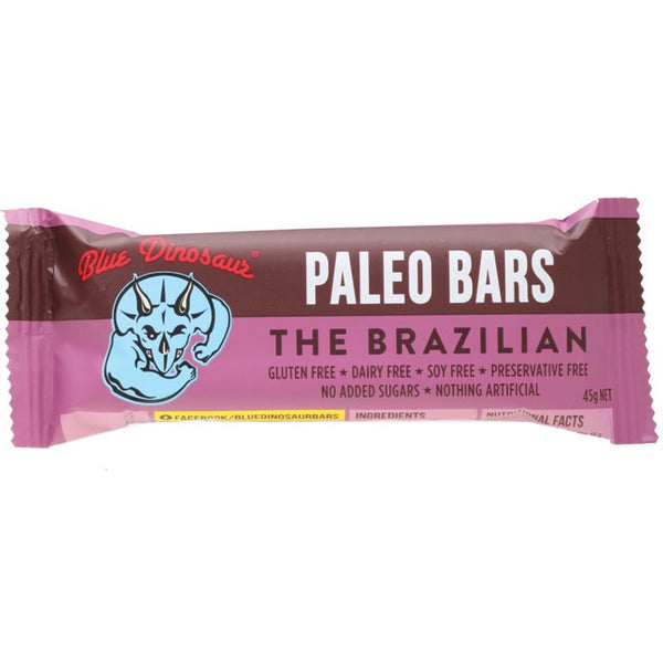 Blue Dinosaur The Brazilian bar 45g - Essentially Health Online Vegan Health Store