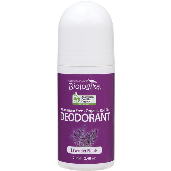 Biologika Roll-on Deodorant Lavender Fields 70ml - Essentially Health Online Vegan Health Store Afterpay