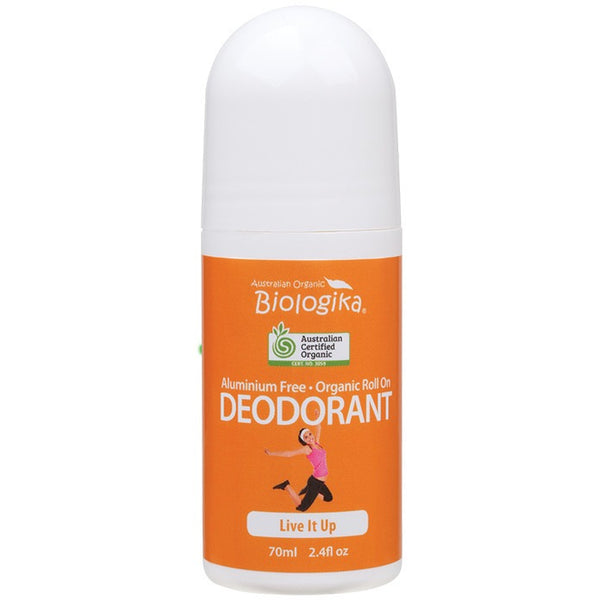 Biologika Roll-on Deodorant Live It Up 70ml - Essentially Health Online Vegan Health Store Afterpay