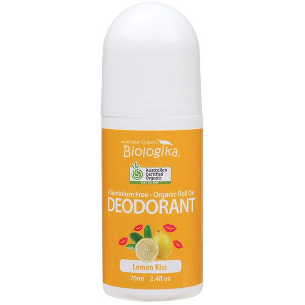 Biologika Roll-on Deodorant Lemon Kiss 70ml - Essentially Health Online Vegan Health Store Afterpay