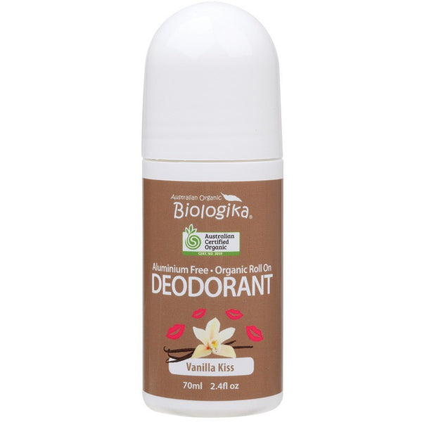 Biologika Roll-on Deodorant Vanilla Kiss 70ml - Essentially Health Online Vegan Health Store Afterpay