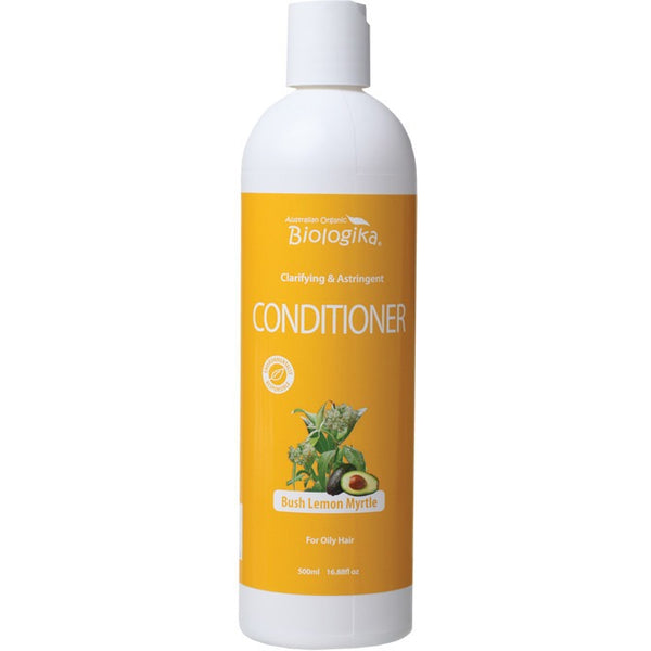 Biologika Conditioner Bush Lemon Myrtle (Oily Hair) 500ml - Essentially Health Online Vegan Health Store Afterpay