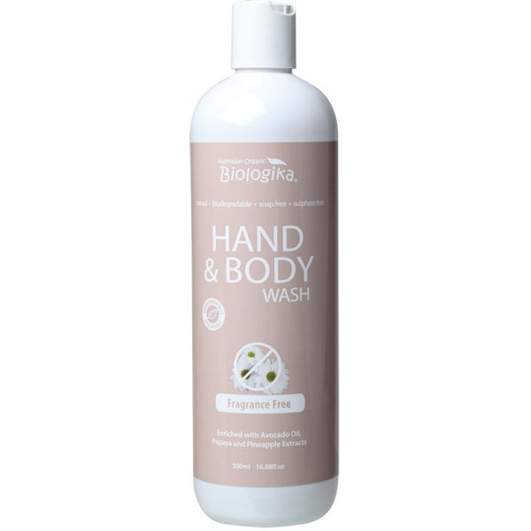 Biologika Hand & Body Wash Fragrance Free 500ml - Essentially Health Online Vegan Health Store Afterpay