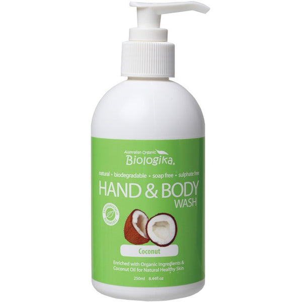 Biologika Hand & Body Wash Coconut 250ml - Essentially Health Online Vegan Health Store Afterpay