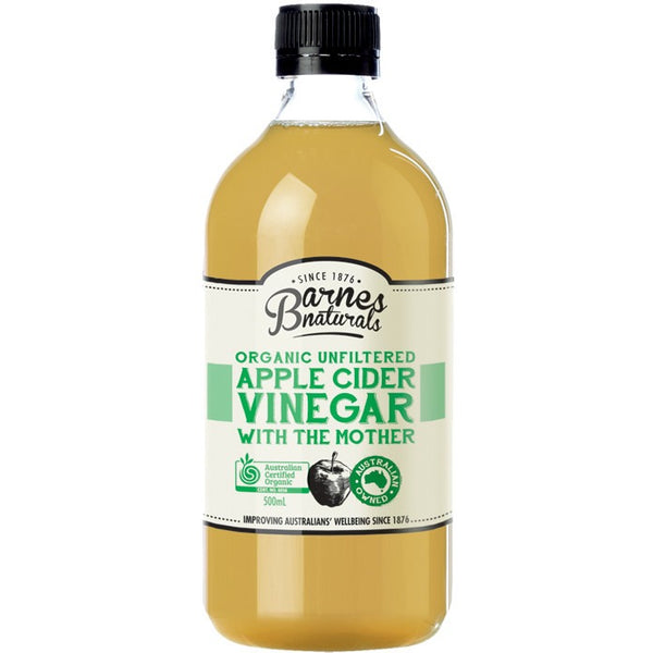 "Apple Cider Vinegar Organic & Unfiltered with ""The Mother"" 500ml - Essentially Health Online Vegan Health Store"