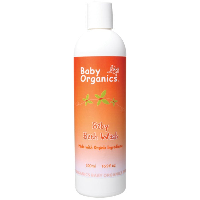 Baby Organics Baby Bath Wash  500ml - Essentially Health Online Vegan Health Store