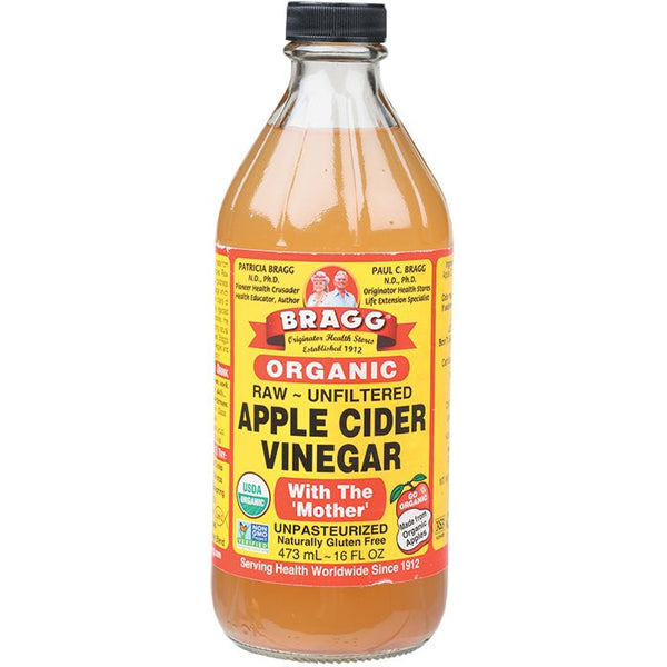 Apple Cider Vinegar Unpasteurised & Unfiltered (Glass) 473ml - Essentially Health Online Vegan Health Store Afterpay