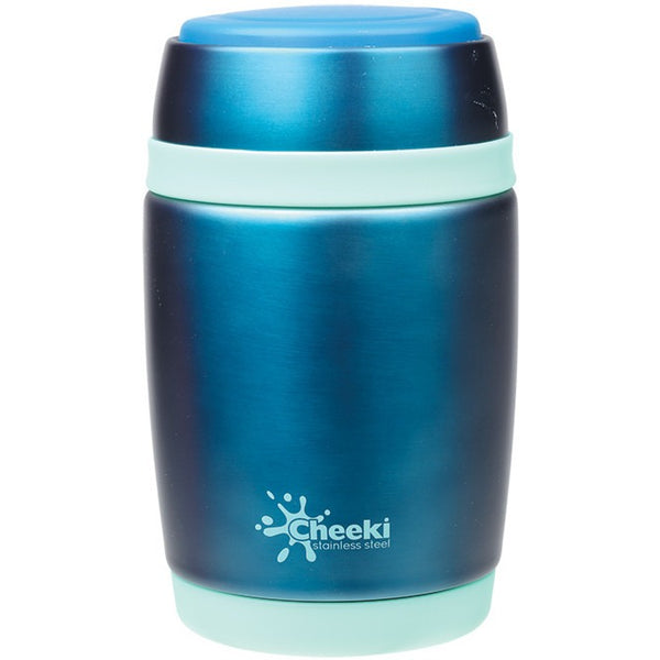 Cheeki Insulated Food Jar Blue 480ml - Essentially Health Online Vegan Health Store Afterpay