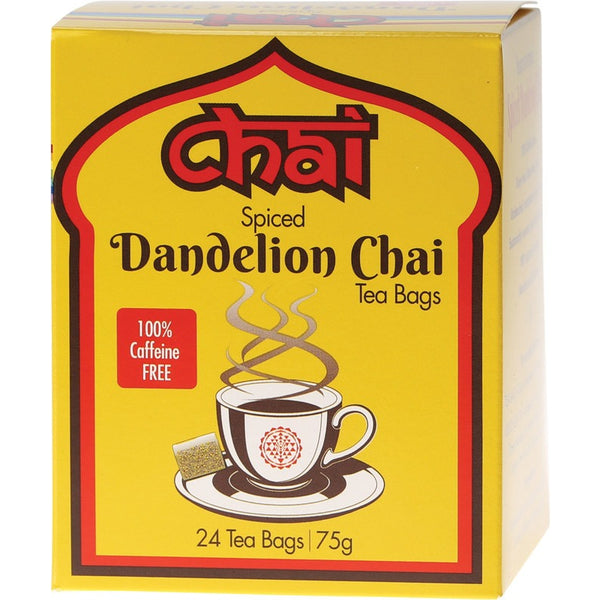 Chai Tea Organic Spiced Dandelion Chai Tea 24 Bags - Essentially Health Online Vegan Health Store