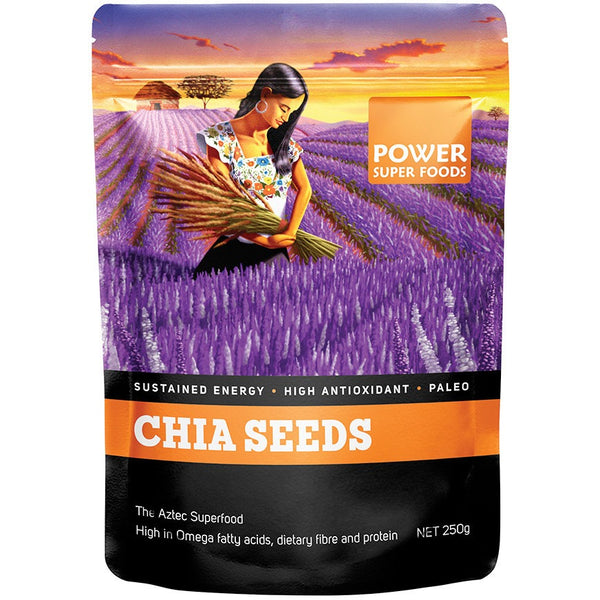 "Power Super Foods Chia Seeds ""The Origin Series"" 250g - Essentially Health Online Vegan Health Store"