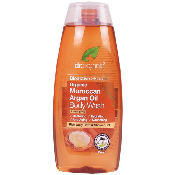 Dr Organic Organic Moroccan Argan Oil Body Wash 250ml - Essentially Health Online Vegan Health Store Afterpay