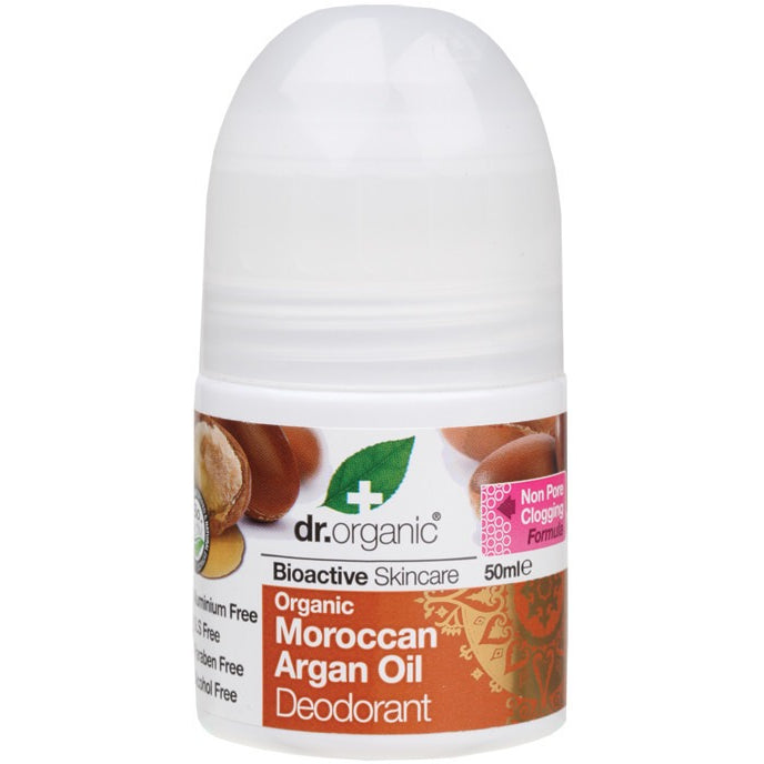 Dr Organic Organic Moroccan Argan Oil Roll-on Deodorant 50ml - Essentially Health Online Vegan Health Store Afterpay