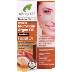 Dr Organic Organic Moroccan Argan Facial Oil 30ml - Essentially Health Online Vegan Health Store
