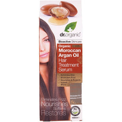 Dr Organic Organic Moroccan Argan Oil Hair Treatment Serum 100ml - Essentially Health Online Vegan Health Store