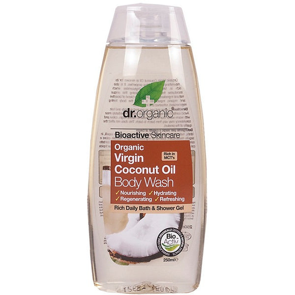 Dr Organic Organic Virgin Coconut Oil Body Wash 250ml - Essentially Health Online Vegan Health Store Afterpay