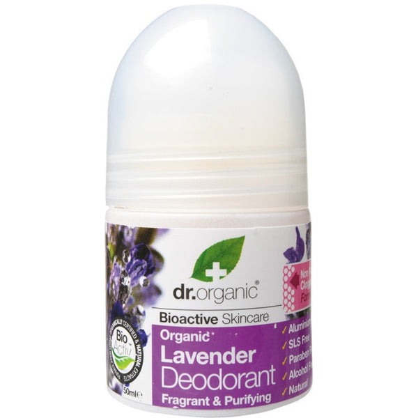 Dr Organic Organic Lavender Roll-on Deodorant 50ml - Essentially Health Online Vegan Health Store Afterpay