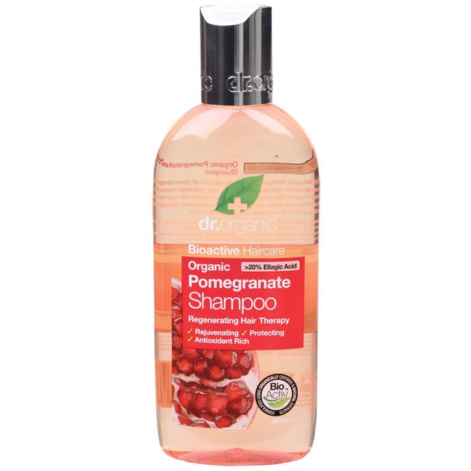 Dr Organic Organic Pomegranate Shampoo 265ml - Essentially Health Online Vegan Health Store Afterpay