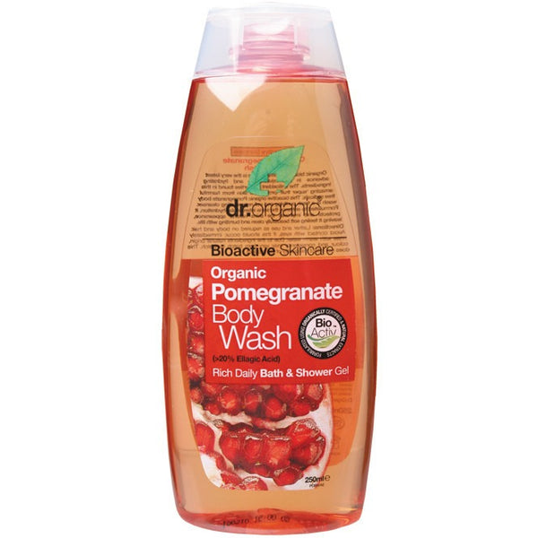 Dr Organic Organic Pomegranate Body Wash 250ml - Essentially Health Online Vegan Health Store Afterpay
