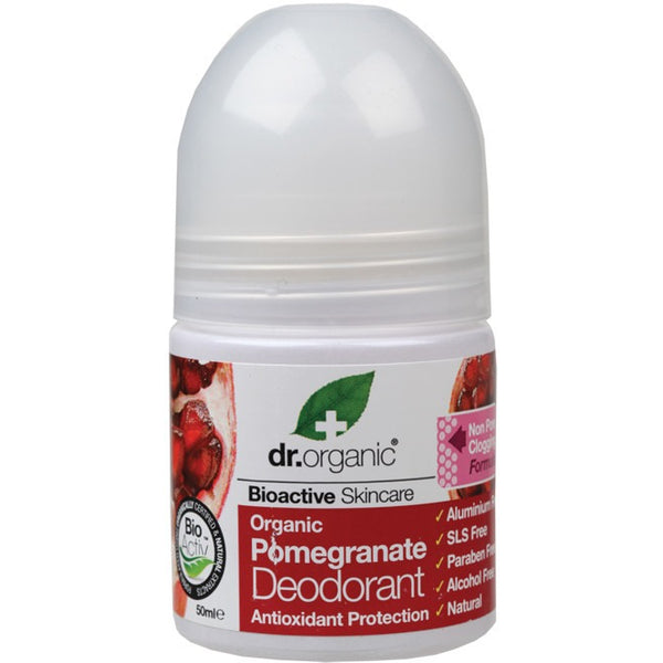 Dr Organic Organic Pomegranate Roll-on Deodorant 50ml - Essentially Health Online Vegan Health Store Afterpay