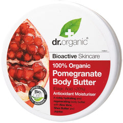 Dr Organic Organic Pomegranate Body Butter 200ml - Essentially Health Online Vegan Health Store